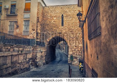Arco de San Lorenzo - a preserved remains of medieval walls in Jaen Andalusia Spain