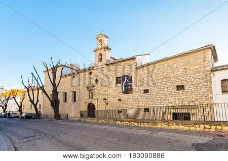 Jaen Spain - January 17 2017: Convent of Santa Teresa de Jesus