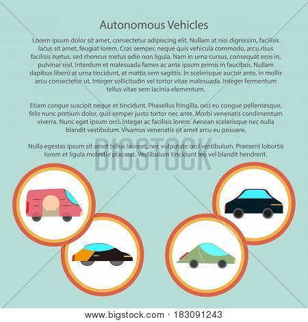 autonomous vehicles infographic with in a circle