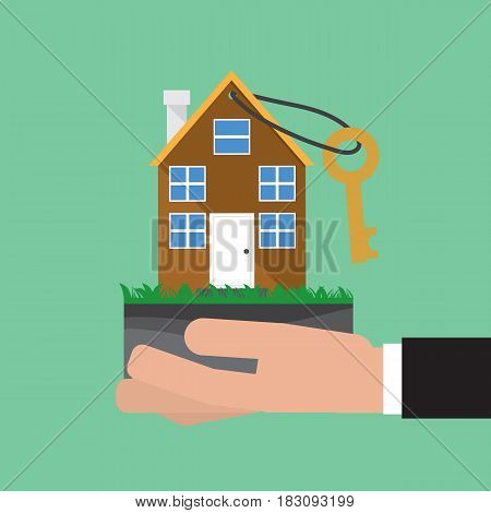 Home Buying Conceptual Vector Illustration. EPS 10
