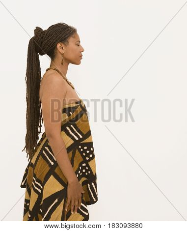 African in traditional clothing