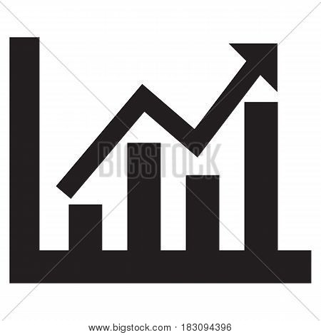 Graph Diagram Icon Growth Analyzing Big Data Chart