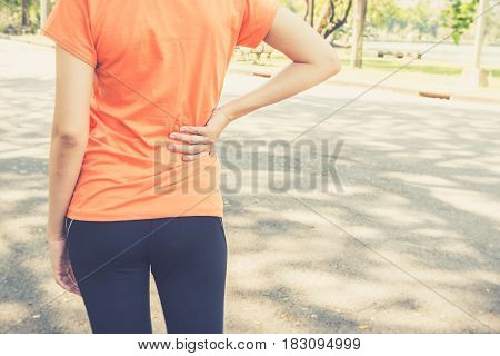 Attractive Confidence Asian Woman Runner Resting Tired After A Run
