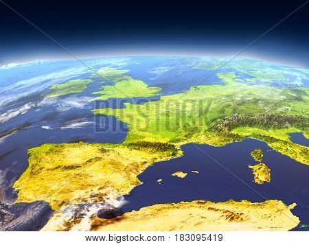 Iberia From Space