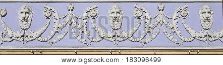 A baroque ornament. frieze. Decoration of Architecture