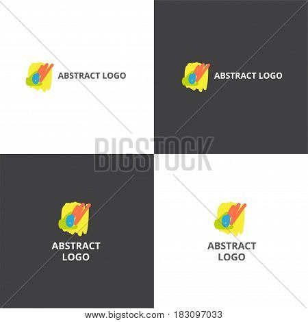 Vector eps abstract style logotype in eps 10 horizontal and vertical view