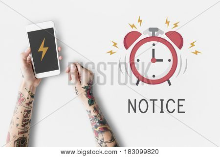 Mobile phone alarm notification for important appointment