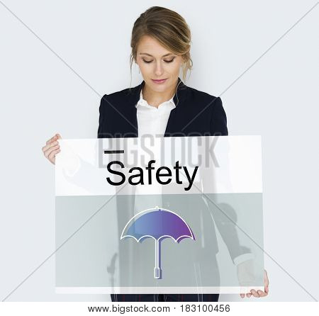 Warranty Security Safety Protection Guard Guarantee Umbrella Icons Symbols