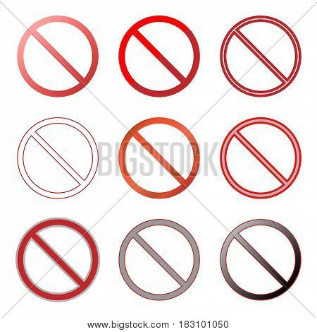 prohibition sign icons set,vector design Illustration EPS10