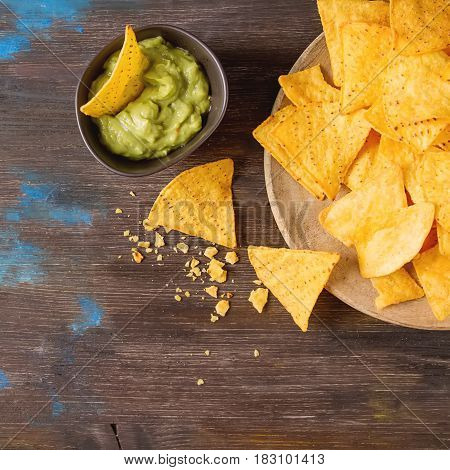 Snack For A Party, Chips With A Tortilla, Nachos With Sauces: Gu