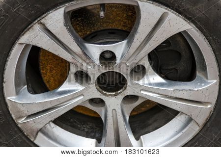 Old Alloy Wheel
