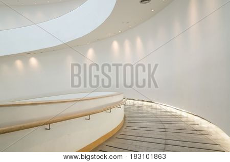 stairs indoor at modern city building