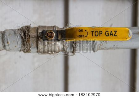 Small Valve On The Gas Pipe