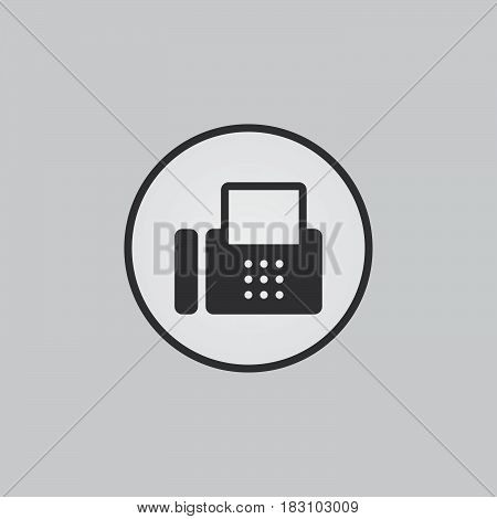 fax icon isolated on white background .