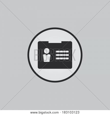 account icon isolated on white background .
