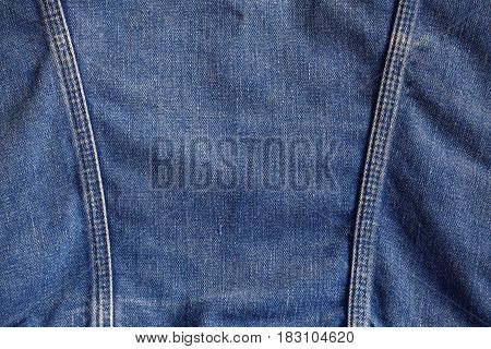 surface and seams of the denim jackets.