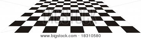 Perspective with black and white square