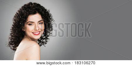 Portrait of amazing beautiful woman