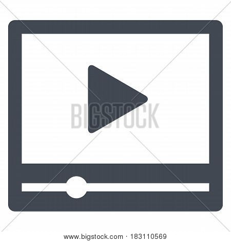 Video player interface Computer Icon Vector Device Screen