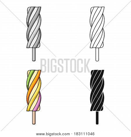Ice lolly icon in cartoon design isolated on white background. Ice cream symbol stock vector illustration.