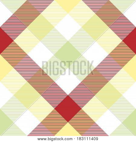 Abstract plaid fabric texture seamless pattern. Vector illustration.