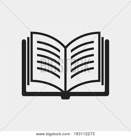 book Icon Vector isolated on white .