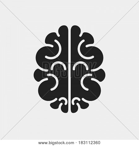 brain Icon Vector isolated on white .
