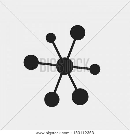 molecule Icon Vector isolated on white .