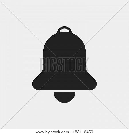 bell Icon Vector isolated on white .