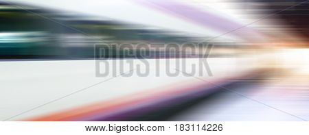 High speed train - abstract background