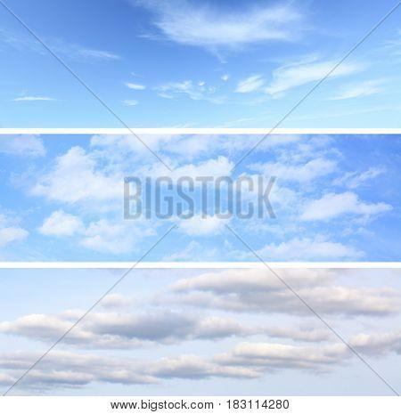 Sky backgrounds set (horizontal)