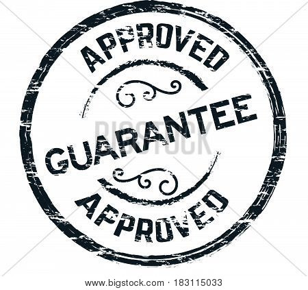 approved warranty label icon vector vintage background