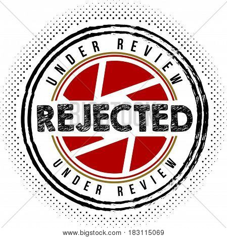 rejected warranty label icon vector vintage background