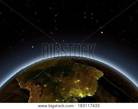 South America At Night