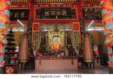 HO CHI MINH CITY VIETNAM - NOVEMBER 27, 2016: Cuan Am temple pagoda. Cuan Am temple pagoda is a Chinese style Buddhist pagoda built in the 19th century.