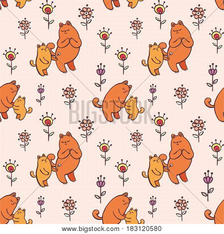 Seamless Pattern With Cats.eps