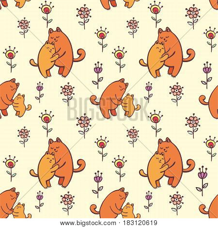 Seamless Pattern With Kittens.eps