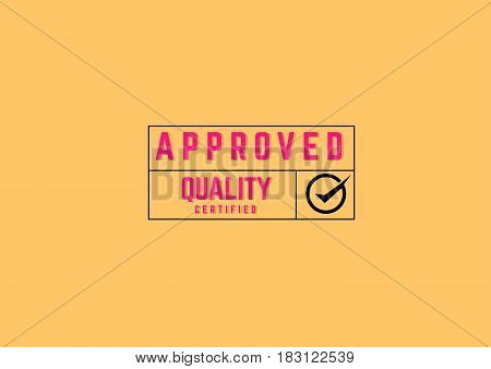 approved warranty label icon grunge vintage retro