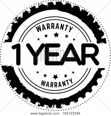 1 years and lifetime warranty label icon