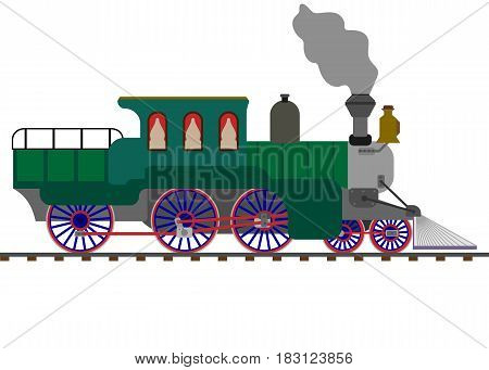 train isolated on white background. Vector illustration.