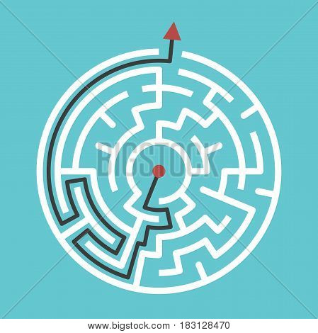 Circular Maze With Solution