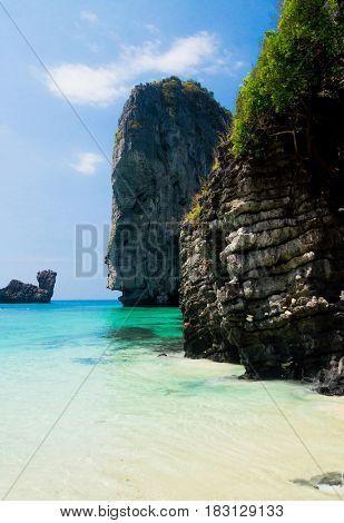 Blue Seascape Sea Cliffs