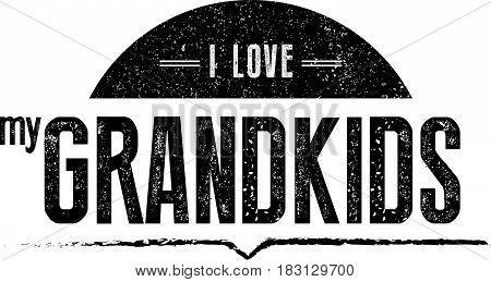 i love my grandkids icon vector retro vintage