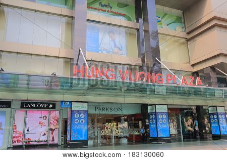 HO CHI MINH CITY VIETNAM - NOVEMBER 27, 2016: Unidentified people visit Parkson department store China town. Parkson is a luxurious shopping center in Vietnam.