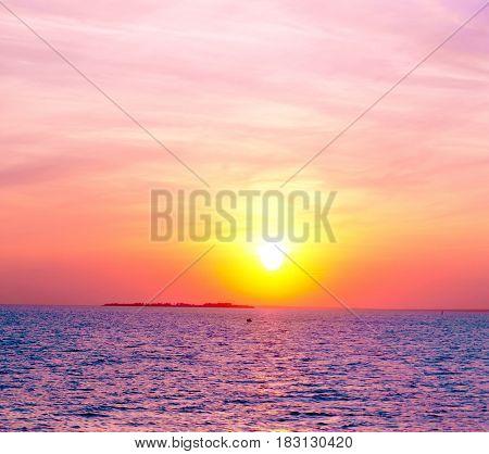 Burning Skies Glowing Paradise