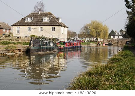 Canal At Hungerford. Berkshire. UK
