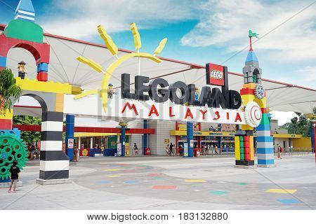 JOHOR Malaysia. April 20 2017: Legoland Malaysia Resort is Malaysia's first international theme park that has opened on 2012 and the first in Asia