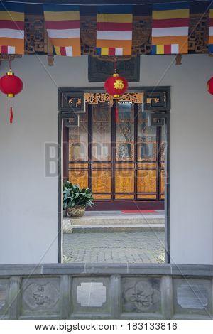 SUZHOU China. April 20 2017: Picture of Liu Garden decoration in Suzhou China