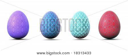 Brokat easter eggs