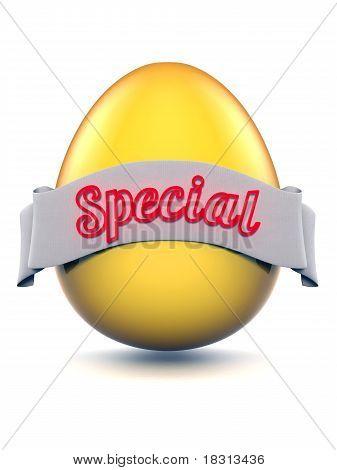 Easter egg golden Special